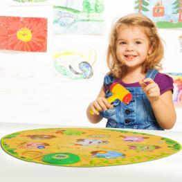 Homcom® Alfombra Musical de Juego Golpear Topos Manta de Actividades Para Niños +3 Años 81X67Cm - Color: Multicolores