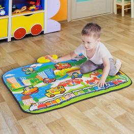 Homcom® Alfombra Musical de Juego Infantil Musical Juguete Para Niños +3 Años 95X71Cm - Color: Multicolores