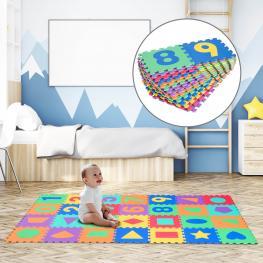 Homcom® Alfombra Puzle Juegos de Rompecabezas Para Niños 2.52㎡ - Color: Colores Variados