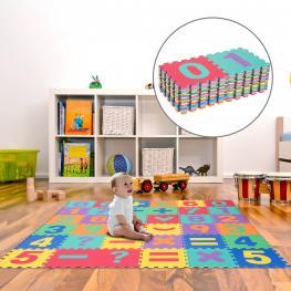 Homcom® Alfombra Puzle Juegos de Rompecabezas Para Niños 3.24㎡<br> - Color: Colores Variados