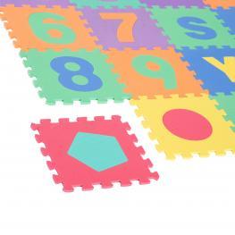 Homcom® Alfombra Puzzle 4.32㎡ Juego Rompecabezas Para Niños Espuma Eva  - Color: Colores Variados