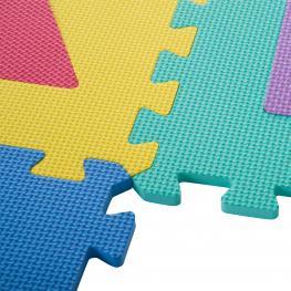 Homcom Alfombra Puzzle Juego Rompecabezas Para Niños Colchoneta Suave 3.24㎡ Espuma Eva  - Color: Colores Variados