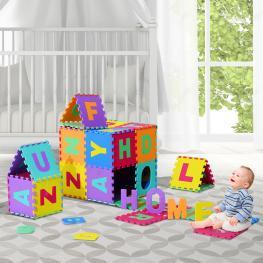 Homcom Alfombra Puzzle Letras Abecedario A-Z Para Niños<br> - Goma Eva 2,41 M2<br> - Colores Variados<br> - Color: Multicolor