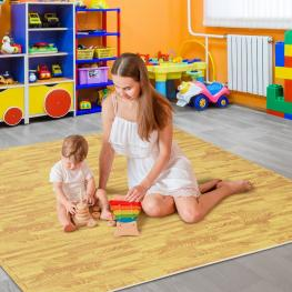 Homcom Alfombra Puzzle Para Niños O Gimnasio Color Madera Goma Espuma Eva 60 X 60 X 1Cm<br> - Color: Madera
