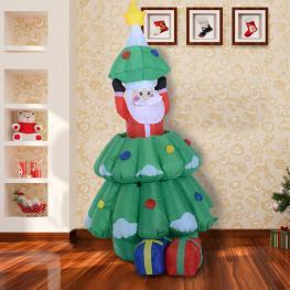 Homcom Arbol de Navidad Multicolor Tela 80X70X130-160Cm<br> - Color: Multicolor