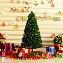 Homcom Arbol de Navidad Verde φ60X150Cm + Luces Led<br> - Color: Verde