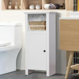 Homcom® Armario Almacenaje Organizador Cocina Gabinete Consola Armario Aparador Buffet Con Puertas y Estantes 40X30X90Cm - Color: Blanco