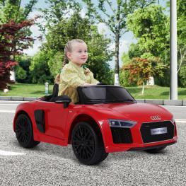 Homcom® Audi R8 Rojo Coche Eléctrico Para Niños A Partir de 3 Años<br> - Color: Rojo