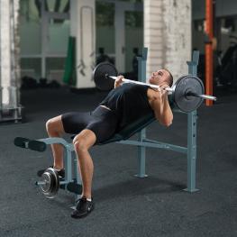 Homcom® Banco de Pesas y Abdominales Ajustable Para Fitness Negro y Plateado Acero Pvc Eva 165X68X114 Cm<br> - Color: Negro
