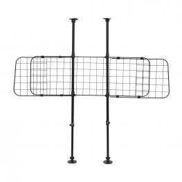 Homcom Barrera Tipo Reja Separadora Universal de Protección Para Transporte de Perros En Maletero - Negro - Acero Antideslizante - Color: Negro