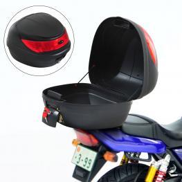 Homcom Baul de Moto Tipo Cofre Negro Plastico 40X38X30Cm - Color: Negro