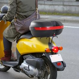 Homcom® Baul Moto Tipo Cofre de 44L Maleta Universal Plastico Negro 54X41X28 Cm - Color: Negro