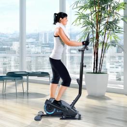 Homcom® Bicicleta Elíptica Resistencia Ajustable Pantalla Lcd Manillar Ajustable - Color: Negro