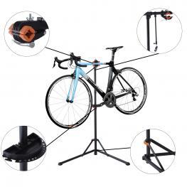 Homcom Caballete Para Bicicleta Acero Negro 85X59X100-159Cm  - Color: Negro