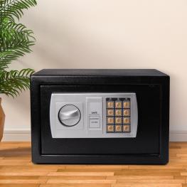 Homcom Caja Fuerte Electronica Negro Acero Sólido 31X20X20 Cm<br> - Color: Negro