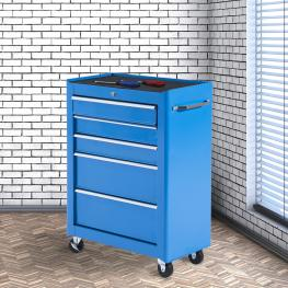 Homcom Carro de Herramientas Acero Azul 61.5X33X85Cm<br> - Color: Azul