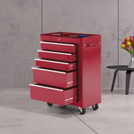 Homcom Carro de Herramientas Acero Rojo 61.5X33X85Cm<br> - Color: Rojo