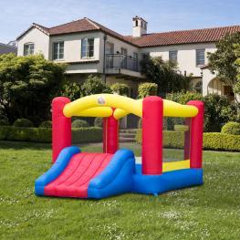Homcom Castillo Hinchable Infantil Para Saltar y Jugar -Multicolores  - Tela de Nylon 420D  - 366X274X183 Cm  - Color: Multicolor