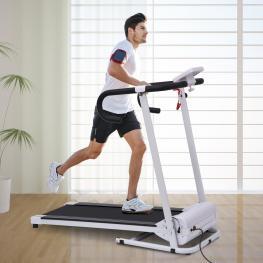 Homcom Cinta de Correr Plegable y Eléctrica de 500W Para Fitness 1-10Km/h Con Pantalla Lcd y Carga Máx. 110Kg - Color: Blanco y Negro