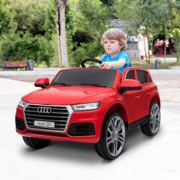 Homcom® Coche Eléctrico Para Niño 3-8 Años Audi Q5 Rojo - Color: Rojo