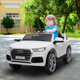 Homcom® Coche Eléctrico Para Niño 3-8 Años Audi Q5 Blanco - Color: Blanco