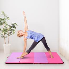 Homcom® Colchoneta Gimnasia Plegable Gruesa Antideslizante Alfombra Para Yoga 183X120Cm - Color: Multicolor