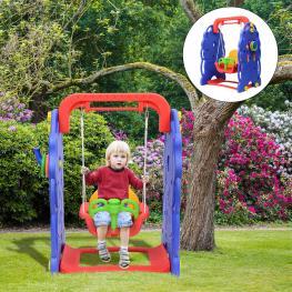 Homcom Columpio Infantil 90X120X66Cm Niños 18 Meses Carga Max 50Kg Parque  - Color: Multicolor