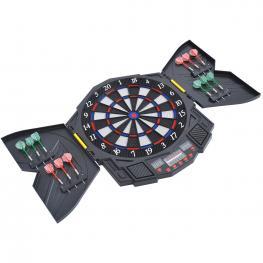 Homcom Diana Electronica Digital + 12 Dardos 8 Jugadores 27 Juegos 216 Variantes Sonido<br> - Color: Negro
