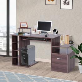 Homcom® Escritorio de Oficina Para Ordenador Mesa Para Pc Madera E1 Mdf 152X60X80Cm<br> - Color: Color Madera