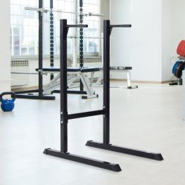 Homcom Estación Dip de Musculación Negro Acero Hasta 120Kg  - Color: Negro