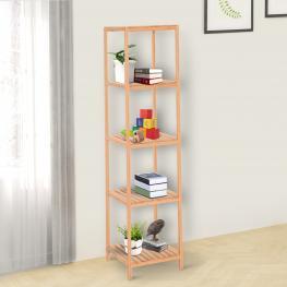 Homcom® Estantería de Bambú 5 Niveles Estantería Almacenaje Para Baño Organizador Zapatero 36X36X145Cm<br> - Color: Bambú Natural