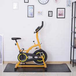 Homcom® Esterilla Para Aparatos de Entrenamiento Alfombra de Fitness Cinta de Correr Yoga Gimnasio Protectora de Suelo 4Mm 170X75Cm - Color: Negro