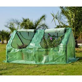 Homcom Invernadero de Jardín y Terraza Para Cultivo de Plantas - Color Verde - Tubo Acero y Plástico - 120X60X60 Cm - Color: Verde
