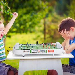 Homcom® Juegos de Fútbol de Mesa Con Jugadores Móviles Futbolín Para Niño +3 Años y Adultos - Color: Verde