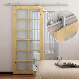 Homcom Kit Instalacion Puerta Aluminio Plateado 200X3,15X2,5Cm - Color: Plateado