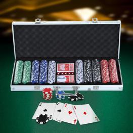 Homcom Maletín de Poker Alumnio Colorido 56X22X7Cm  - Color: Plateado