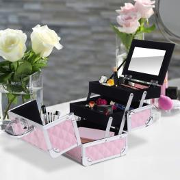 Homcom® Maletín Para Maquillaje Organizador Cosméticos Profesional 20X15X15Cm  - Color: No