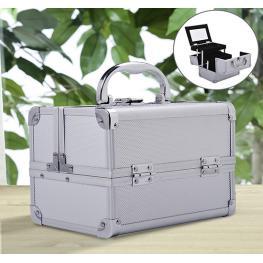 Homcom Maletin Profesional Aluminio Blanco 15X15X20Cm<br> - Color: Blanco