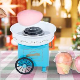 Homcom® Máquina de Algodón de Azúcar Eléctrica Profesional 30X30X28Cm  - Color: Azul