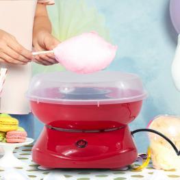 Homcom Maquina Para Hacer Algodón de Azucar Rojo Aluminio 27X26X18Cm<br> - Color: Rojo