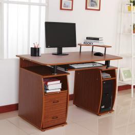 Homcom Mesa de Ordenador Color de Madera Mdf 120X55X85Cm<br> - Color: Color Madera