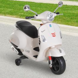 Homcom® Moto Eléctrica Infantil Coche Triciclo Para Niños Mayores de 3 Años Carga 25Kg Blanco  - Color: Blanco