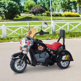 Homcom Moto Eléctrica Infantil de Batería Para Niño<br> - Negro<br> - Hierro Pp<br> - 92X53X67Cm<br> - Color: Negro