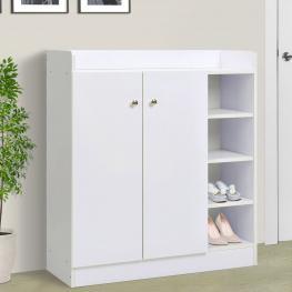 Homcom Mueble Zapatero Armario Para Zapatos 2 Puerta Estanteria 83X30X90Cm<br> - Color: Blanco
