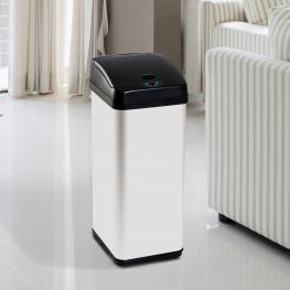 Homcom® Papelera Reciclaje Cubo de Basura Apertura Automática Sensor Para Cocina Dormitorio 48L Acero Inox<br> - Color: Modelo 1