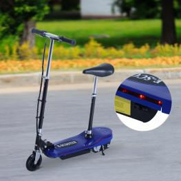 Homcom Patinete Eléctrico Plegable Con Luz Led<br> - Color Azul<br> - 81.5X37X96Cm<br> - Color: Azul