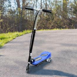 Homcom Patinete Eléctrico Plegable Tipo Scooter Con Manillar Ajustable<br> - Color Azul<br> - 81.5X37X96Cm<br> - Color: Azul