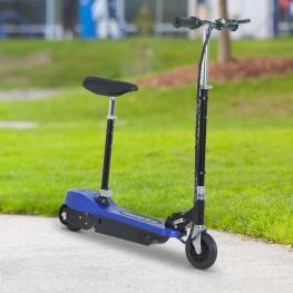 Homcom Patinete Eléctrico Scooter Plegable Con Manillar y Asiento Ajustable<br> - Color Azul<br> - 78X40X96Cm<br> - Color: Azul