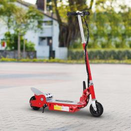 Homcom Patinete Eléctrico Scooter Plegable Con Manillar<br> - Color Rojo<br> - 81.5X37X96Cm<br> - Color: Rojo