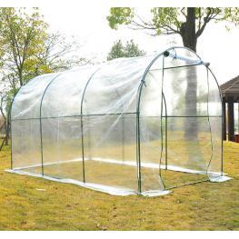 Homcom Plastico Invernadero Caseta 350X200X200Cm Acero Cultivo Plantas - Color: Transparente